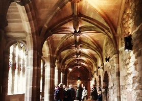 50+ Tour of #chestercathedral this afternoon. So much to learn about this amazing building! #chester #englishinchester
