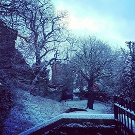 Very wintery this morning in Chester! Only briefly before the sunshine came and melted all the pretty snow away! #winter #snow #snowday #snowy #January #chester #englishinchester