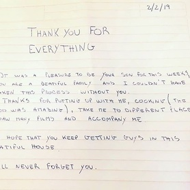 Aww! Look at this lovely letter that one of our students left for his homestay hosts after a 4 week stay. It melts the heart! #warmheart #experience #homestay #Studyabroad #Studyinengland #thenorth #northernhospitality #chester #englishinchester