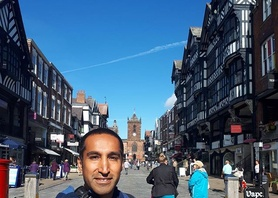 Very happy to see our friend Andres from @eslchile in Chester! Wonderful weather and company!  #efl #englishinchester #studyabroad