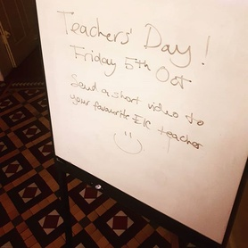 It's #teachersday this Friday and we'd like to celebrate the great work that our teachers do! If you have a message for your favourite English in Chester teacher please send us a short vid clip or any messages that you'd like to pass on! #bestteacher #englishinchester #myeic