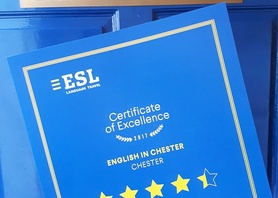 Thank you very much @esl_education for our Certificate Of Excellence! #ESL #englishinchester #chester #studyabroad #excellent