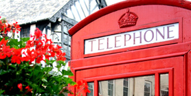 Traditional English phone box