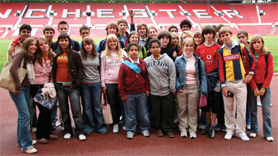 Students at Manchester United Football Club