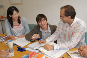 Students in the Language Training Centre